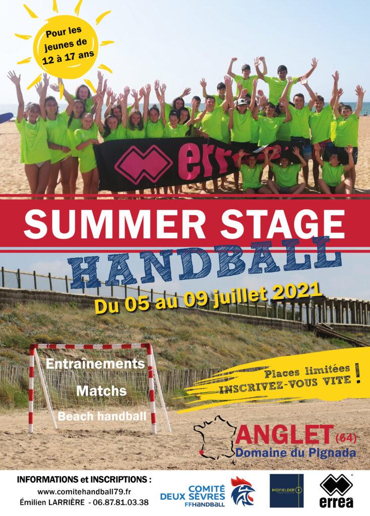 affiche handball summer stage 2021